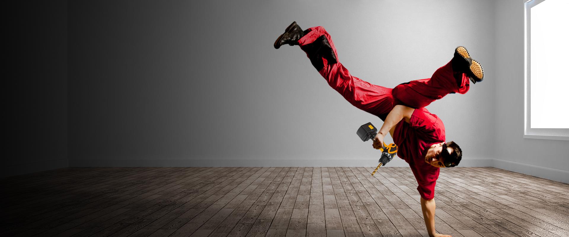 Tanzender Hausmeister
